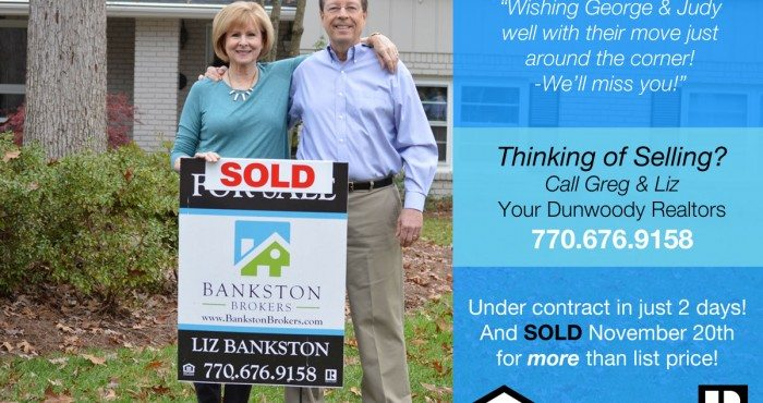Time to sell your home in Dunwoody